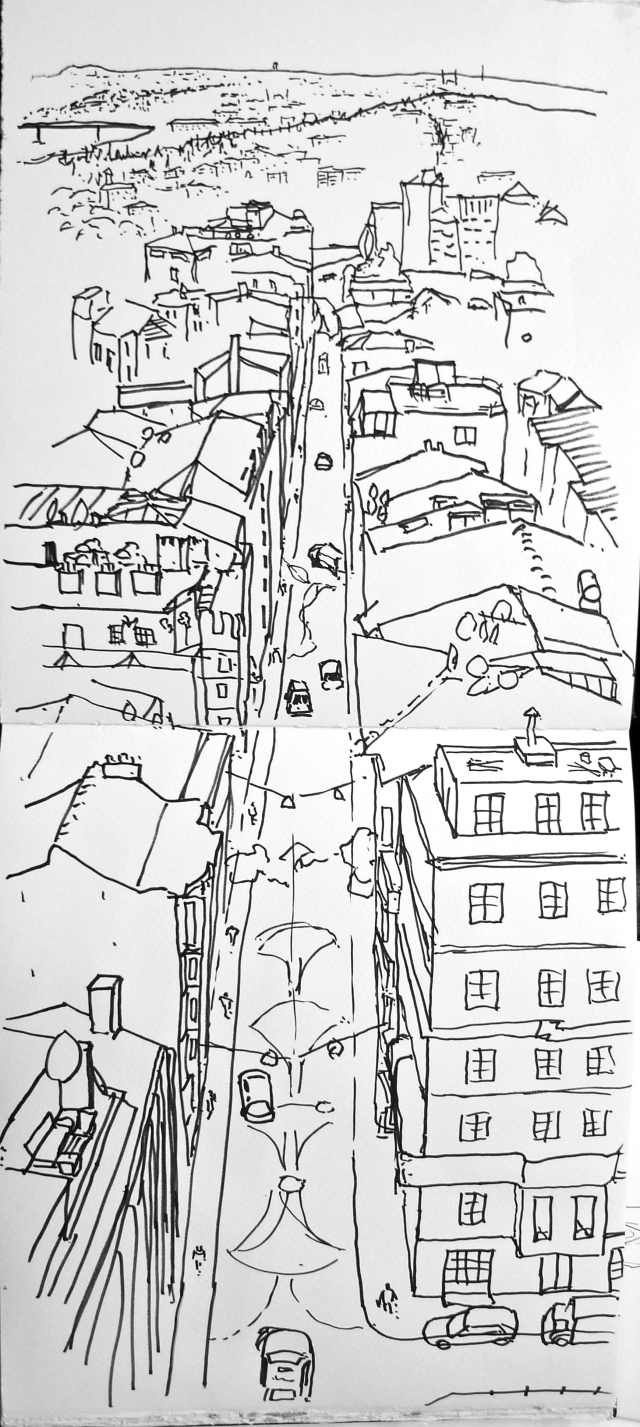 Galata tower view